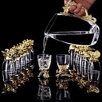 Bộ ly uống rươu 12 con giáp cao cấp – Quà biếu tết, tặng tân gia sang trọng, đẳng cấp