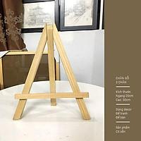 Giá gỗ 3 chân trang trí - Decor