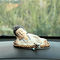 (Kèm chuỗi) Tượng Phật nằm niết bàn - Phật Ông áo trắng