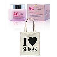 Kem AC Sensitive Cream Skinaz - 100ml - Tặng kèm Túi Xách Thời Trang