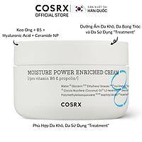 Kem Dưỡng Cấp Ẩm Chuyên Sâu (Keo Ong + B5) COSRX Hydrium Moisture Power Enriched Cream 50ml