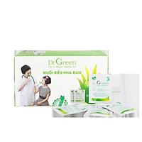Muối rửa mũi Nha Đam Dr.Green  Hộp 30 gói  Dùng cho bé và người lớn  Hỗ trợ điều trị viêm mũi, sổ mũi, viêm mũi xoang