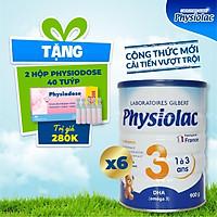 (Tặng 2 hộp Physiodose) Bộ 6 lon sữa bột Physiolac 3 900g