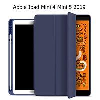 Bao Da Cover Dành Cho Apple Ipad Mini 4 Mini 5 2019 Có Khe Cho Apple Pencil Hỗ Trợ Smart cover