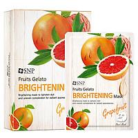 Combo 10 Mặt Nạ Dưỡng Trắng Da Tinh Chất Bưởi SNP Fruits Gelato Brightening Mask