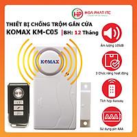 Thiết bị chống trộm gắn cửa, báo trộm gắn cửa kèm remote Komax KM-C05 - Hàng chính hãng