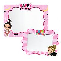 Combo 2 khung hình giấy để bàn trang trí sinh nhật - boss baby girl