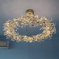Đèn chùm pha lê cao cấp thiết kế vòng nguyệt quế độc đáo trang trí phòng khách, nhà hàng, khách sạn THCN-63-21