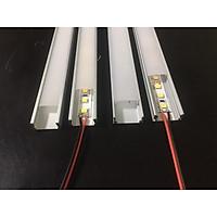 Thanh nhôm U định hình U14-7mm đã gồm Led 10w/m, 12v, Dạng U góc đã có đèn Led cao cấp.