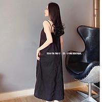 váy 2 dây dáng suông chất đũi xước xinh xắn