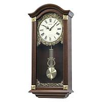 Đồng hồ treo tường RHYTHM SIP (Sound In Place) Wall Clocks CMJ524NR06 (Kích thước 28.5 x 59.0 x 12.0cm), Vỏ màu Nâu