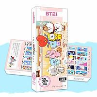 Bookmark thanh đánh dấu trang BT21 có tặng kèm sticker BT21