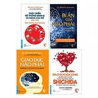 Combo 4 cuốn Shichida: bí ẩn não phải, giáo dục não phải, ba chìa khoá vàng, phát triển trí thông minh và tài năng của trẻ tặng cuốn rèn kỹ năng cho bé
