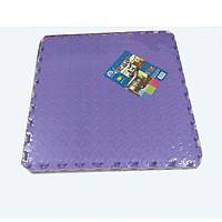 Bộ 4 tấm thảm xốp ghép, màu tím, chống trượt, kích  thước 1 tấm 60cm x 60cm, dày 1cm( hàng Việt Nam)