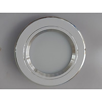 Đèn led âm trần 7w 3 màu viền trắng lỗ khoét trần D90mm