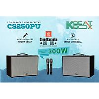 Loa kéo xách tay ACNOS KBEATBOX CS250PU - Bass 2.5 tấc, công suất 300W - Dàn karaoke di động tiện lợi - Hát karaoke không cần mạng - Kết nối bluetooth 5.0, USB - Thiết kế sang trọng, tiện lợi - Kèm 2 micro không dây UHF cao cấp - Hàng chính hãng