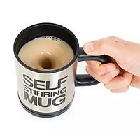 Cốc tự khuấy tan đường sữa trong cà phê, trà, có nắp giữ nhiệt Sarus Crane