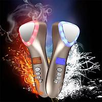 Búa massage mặt nóng lạnh, điện di làm trẻ hóa da ion D002 - 4in1, pin sạc
