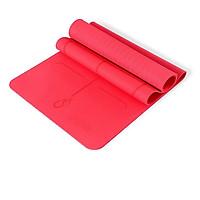 Thảm tập yoga định tuyến TPE 8mm 1 lớp (Kèm túi và dây buộc)