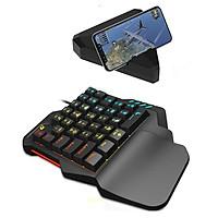 Bàn phím giả cơ FREE WOLF K1 HN Tặng Kèm HUB G1 chơi game Pubg Mobile, Rules of Survival, Free Fire trên điện thoại, máy tính bảng, Laptop và PC - Hàng Chính Hãng
