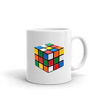 Cốc Sứ Cao Cấp In Hình Khối Rubik - Mẫu005
