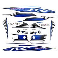 Bộ tem xe Exciter RC đời 2010 màu xanh