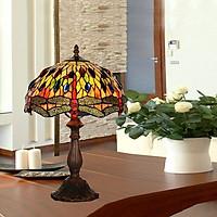Đèn bàn Tiffany chao đường kính 30cm chân hợp kim 2
