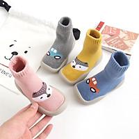 003-8 # Giày bún hình thú cao cổ bé trai và bé gái(hình thú Ôto sieu dễ thương)  hàng Quảng Châu cao cấp