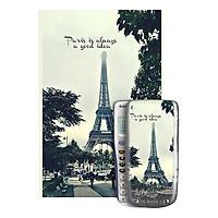 Decal Trang Trí Máy Tính Casio/Vinacal Phong Cảnh Paris PPR-009