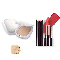 Bộ trang điểm VDIVOV son môi Lip Cut Rouge RD301 RED HUNTER 3.8g và phấn phủ mịn mượt Silk Wear Powder Pact 21N Sand Ivory SPF30 PA++ 13g