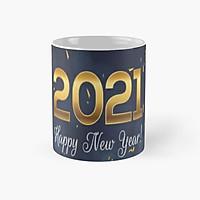 Cốc sứ uống trà uống nước Happy new year