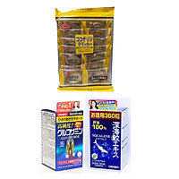 Combo 1 hộp Thực phẩm bảo vệ sức khỏe Viên uống Glucosamine 1500mg Nhật Bản 900 viên ( Orihiro Hight Pure Glucosamin Tablets ) và 1 hộp Sụn vi cá mập ( Sụn cá mập Orihiro Squalene Nhật Bản) 360 viên – Tặng 01 gói bánh quy dừa Nhật Bản hiệu Aee