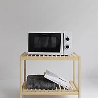 Kệ lò vi sóng gỗ thông - Kệ để đồ dùng nhà bếp