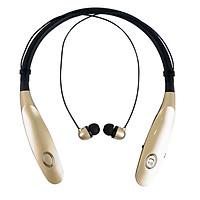 Tai Nghe Bluetooth Không Dây Pin Lâu Wireless Bluetooth Âm Thanh Cực Hay PKCB34 Gold - Hàng Chính Hãng