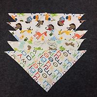 Combo 5 khăn yếm tam giác cho bé trai - Màu ngẫu nhiên