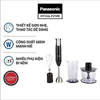 Máy Xay Cầm Tay Panasonic MX-SS1BRA - 5 Mức điều khiển công suất - Chất liệu Inox cao cấp - Công Suất 600W- Hàng Chính Hãng