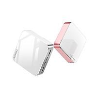 Pin Sạc Dự Phòng Mini Mirror Pisen 10000mAh (Hợp kim Mac + 2 Mặt Kính, 2x USB Smart, Led) - Hàng Chính Hãng - Hồng