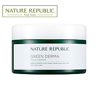 BIG SIZE Kem dưỡng da nhạy cảm NATURE REPUBLIC Green Derma Mild Cream 190ml (trẻ em trên 3 tuổi)