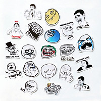 Bộ 20 Sticker Chủ Đề Troll Face Meme (2020) Hình Dán Chống Nước Decal Chất Lượng Cao Trang Trí Va Li Du Lịch, Xe Đạp, Xe Máy, Laptop, Nón Bảo Hiểm, Máy Tính Học Sinh, Tủ Quần Áo, Nắp Lưng Điện Thoại