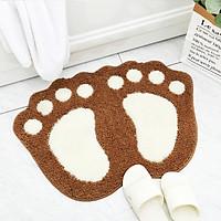 Thảm Lau Chân Bông Mểm Mại Siêu Thấm Hút Footprint Độc Đáo