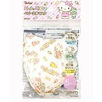 Set 5 khẩu trang Skater cho bé hình Hello Kitty nội địa Nhật Bản