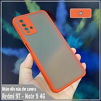 Ốp lưng cho Xiaomi Redmi 9T nhám viền màu che camera