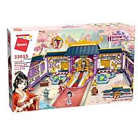 Đồ chơi xếp hình thông minh biệt phủ Hoa Mộc Lan cho bé gái từ 6 tuổi Qman 33015(tặng quà)