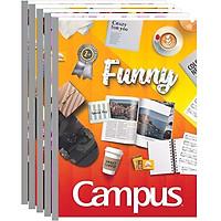 Lốc 5 Cuốn Tập Kẻ Ngang Campus B5 Gift (200 Trang)