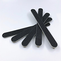 Set 5 cây dũa móng tay, dũa móng bột chuyên dụng - 2 mặt giấy nhám đen có độ nhám 100/100