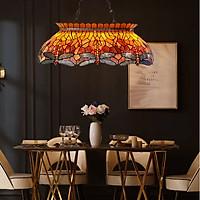 Đèn thả trang trí Tiffany chuồn chuồn hổ phách 80cm