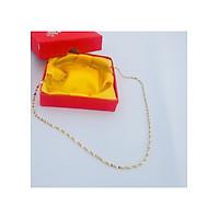 Dây Chuyền Nữ Kiểu Dáng Hàn Quốc dạng Xoắn, Dài 45cm, mạ vàng 24k Đựng trong hộp đựng Cung Hỷ, Món phụ kiện cho các buổi gặp mặt, đám tiệc, ... thêm phần sang trọng.