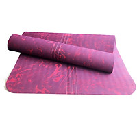 Thảm Tập Yoga Định Tuyến Cao Cấp DAS-3D Đỏ