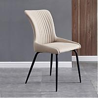 Ghế ăn bọc vải chân sắt hiện đại Lux 13A