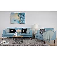 Bộ Ghế Sofa Vải 3+1 Màu Xanh AQ028